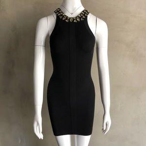 BCBG MaxAzria | Bejeweled Bodycon Dress
